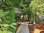 Walkways throughout the resort