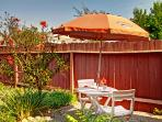 Secret garden with cafe style seating - It's a secret!