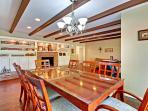 Open floor plan for formal dining, the great room, and plenty of seating..