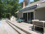 Outdoor Dining and Built in Outdoor Grill with Bluestone Bar