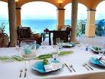 the pavilion - prettiest dining room in the Caribbean !