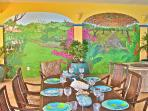 50 ft. mural in dining room