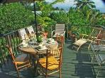 Enjoy Sun, stars and outdoor dining on the private, large deck! Sometimes you can even see the lava!