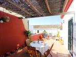 The terrace is the perfect place to enjoy the typical Sevillian life-style.
