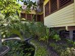 Soothing tropical gardens with ponds and water features