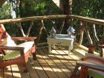 Guava suite deck overlooking the gardens