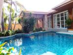 Outside South Facing Pool Area! Sun all Day!
