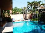South Facing Pool Area with Sun Loungers!