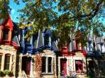 The plateau Mont-Royal is just one metro station away (metro sherbrooke) with the beautifull square st-Louis