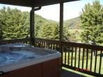 Relax in the Spa overlooking the Blue Ridge Mountains