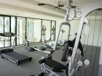 fitness room on the 2nd floor