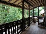 Have your coffee on the veranda while listening to the breeze blow through the bamboo
