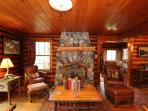 The great room with beautiful western furnishings. What a great place to come home to!