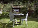 The garden is a completely secluded southfacing suntrap