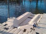 Personal watercraft drive on floating dock