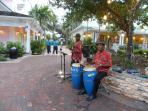A few Bahamians providing music to the tourists at Marina Village, Paradise Island