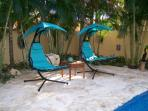 Fun new pool deck chairs.