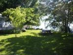 The Lakehouse's front lawn.