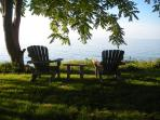 Lakehouse outdoor seating.