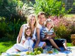 Have a picnic right outside our dock - beautiful park area surrounds you