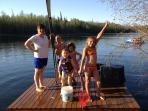Kids love the floating dock, fishing for guppies, & swimming! Never a dull moment!