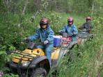 Ride ATVs on wilderness trails back to glaciers and rivers - adventure awaits close by