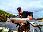 Excellent salmon fishing on near by rivers