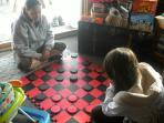 Old fashioned Checkers or more modern games...it all adds up to QUALITY FAMILY TIME!   Plenty here!!