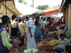 Colorful market scene in the near by village