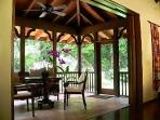 Lovely screened lanai for peaceful dining