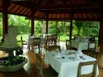 Garden restaurant within our resort complex