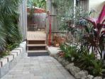 Off Private Deck onto Side Garden Entry