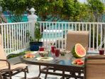Cruzan Sands Villa - Breakfast on the Beach on our Huge Pool Deck!