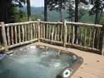 An Outdoor Hot Tub with a View.