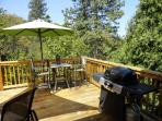 Deck with dining table and BBQ