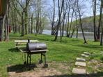 Backyard with lovely Shenandoah River