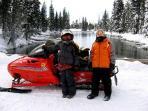 Snowmobiling at Big Springs