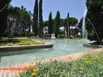 El Presidente has beautiful water gardens with fountains and exotic flowers