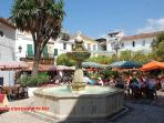 The wonderful Plaza de Naranjos in Marbella's Old Town