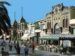 Viareggio: seafront promenade: art nouveau allure, great shopping, great food, bars, cinemas