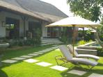 sun lounges and umbrellas for your comfort