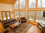 Beautiful floor to ceiling windows with amazing mountain views