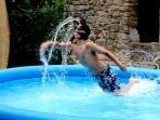 Kids' splashpool (we have a new, rigid frame pool now)