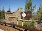 View of the front entrance at the Lookout at Deer Valley