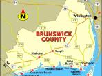 Brunswick County Map