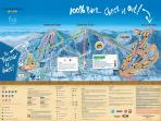3 peaks including a terrain park, the biggest on the East Coast. Ski back home when you are done!