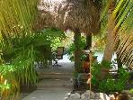 Private walkway leading from your bedroom to the tiki hut.
