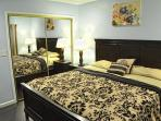 Each bedroom has a spacious closet with sliding mirror door.