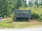 roadside sign for Devonian Park