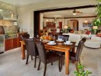F102 Bali Hai Pool Villa - Outdoor Covered Veranda Dining and BBQ Area